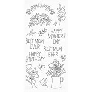 """My Favorite Things Clear Stamps 4""""X8""""-Mother's Day Bouquet"""
