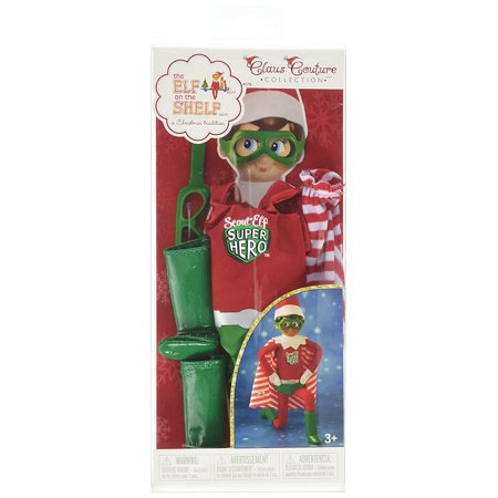 Elf on the Shelf Claus Couture Scout Elf Super Hero Winter Toy Set, Red/Green By The Elf on the Shelf ()
