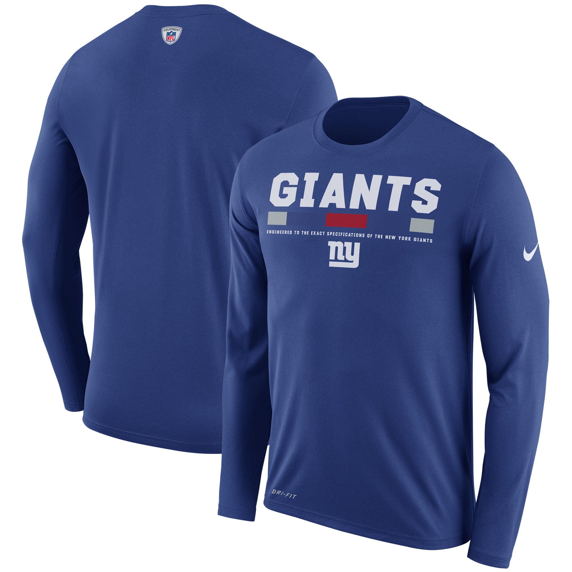 New York Giants Nike Sideline Legend Staff Performance Long Sleeve T-Shirt - Royal