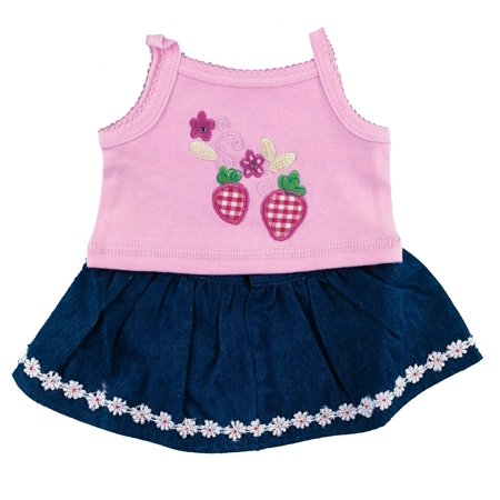 Strawberry Denim Skirt Outfit Fits Build A Bear Workshop 12