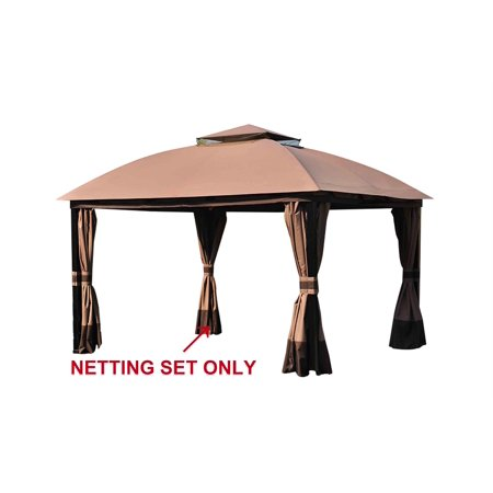 Sunjoy Replacement Mosquito Netting for L-GZ659PST 10X13 South Hampton Gazebo