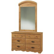 South Shore Prairie Country Pine Double Dresser