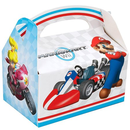 Super Mario Brothers Mario Kart Wii Party Supplies 4 Pack Favor Box - Mario Brothers Decorations