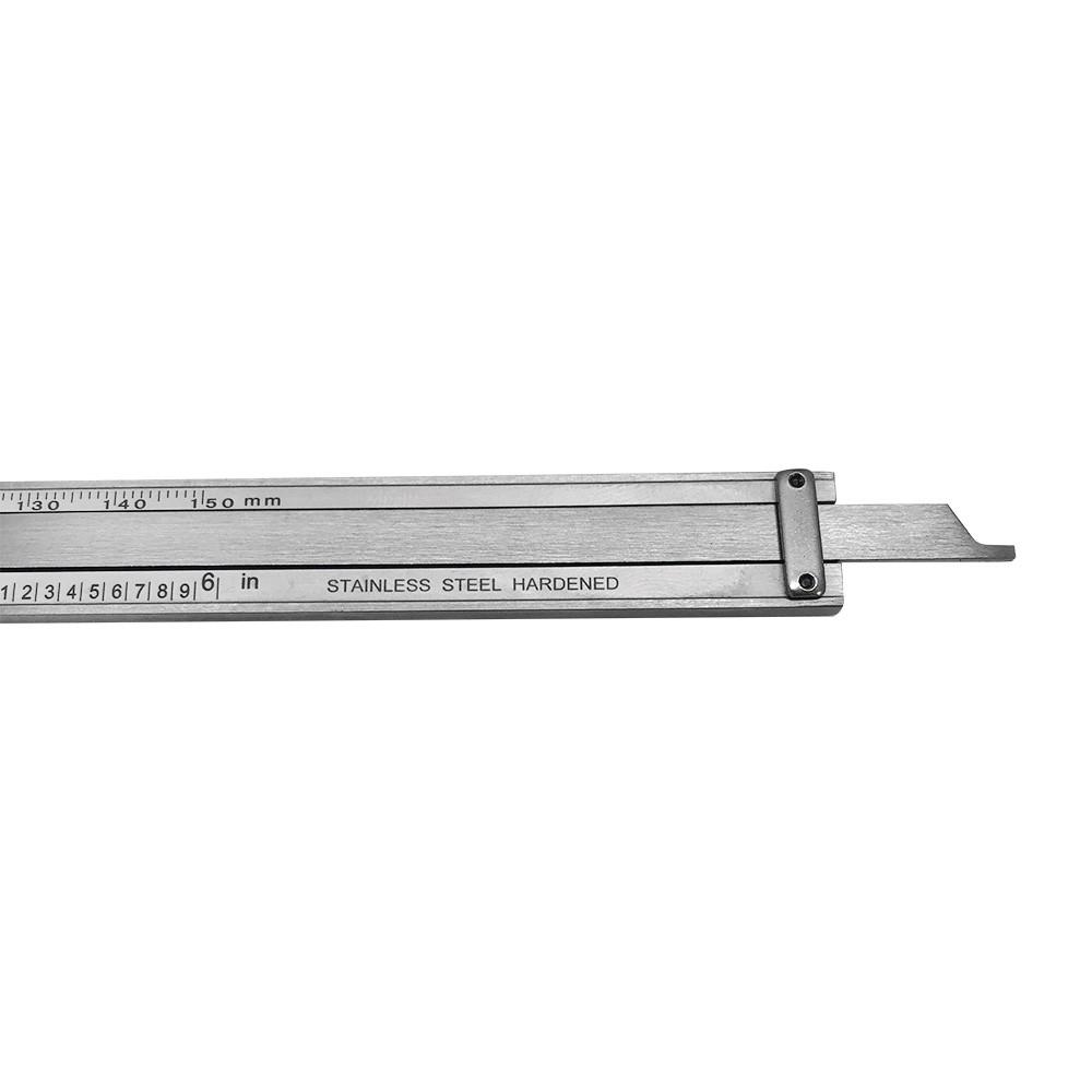 DIAL CALIPER 6/'/'// 150MM DUAL READING SCALE METRIC SAE STANDARD INCH MM
