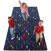 Flagship Carpets FTP66 6 x 6ft Footprints Educational Rug