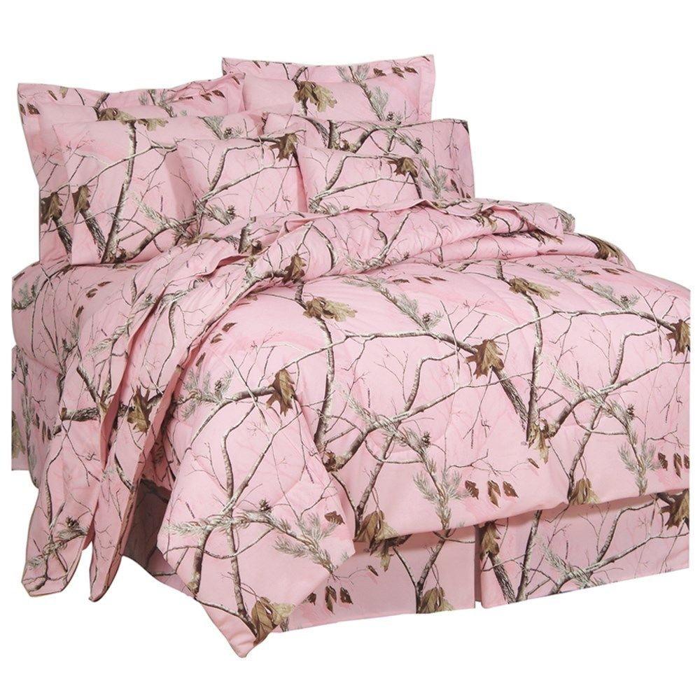 Realtree AP Pink Camo 8 Pc FULL SIZE Comforter Set & 1 Ma...