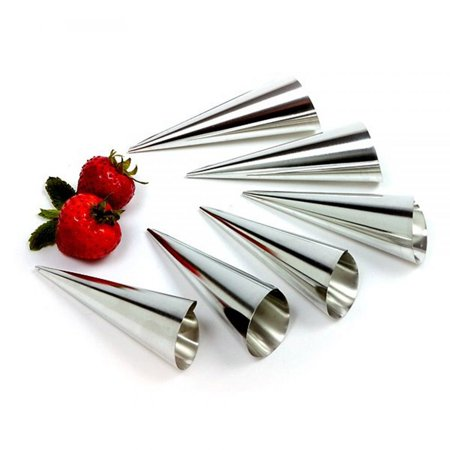 Norpro Cream Horn Mold Pasty Set Of 6 Stainless Steel 4.25