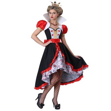 Women's Flirty Queen of Hearts (Women's Feisty Queen Of Hearts Costumes)