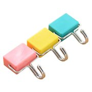 totalElement All-Purpose Strong Magnetic Hooks, Pastel Pink, Yellow, Blue (3 Pack)
