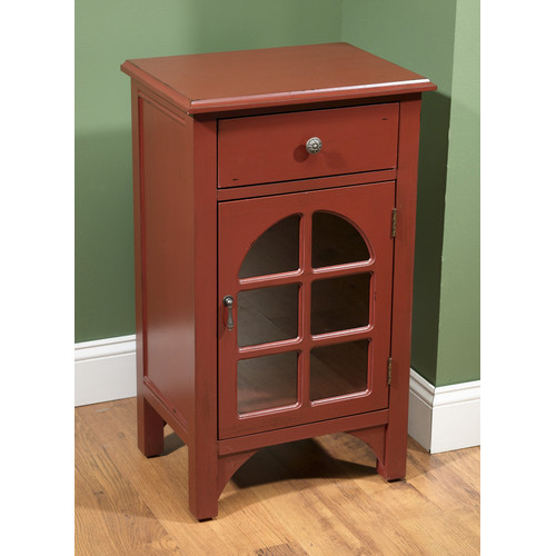 AA Importing 1 Door End Table by AA Importing