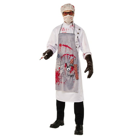 Mad Scientist Crazy Evil Doctor Adult Men Horror Halloween Costume
