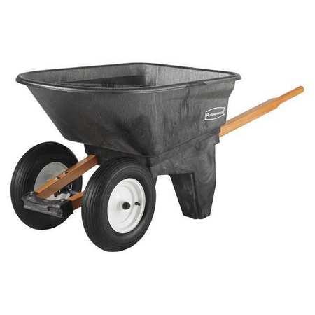 Rubbermaid Commercial Prod 5659-61-BLA Wheelbarrow, Black...