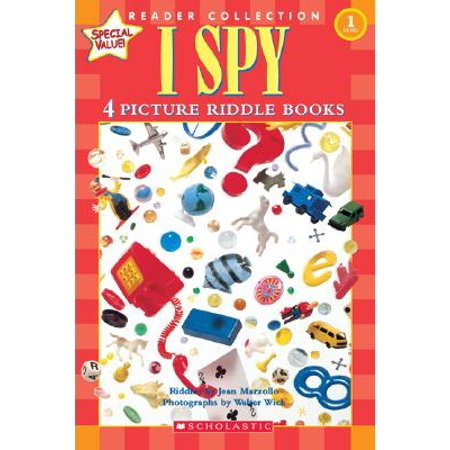 Scholastic Reader Collection Level 1: I Spy : 4 Picture Riddle Books - 100 Floors Halloween Level 4 Level 1