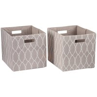 "Better Homes & Gardens Fabric Cube Storage Bins (12.75"" x 12.75""), Set of 2, Multiple Colors"