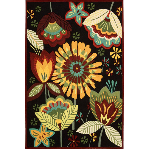 Nourison Enchanting Multi-color Floral Decorative Area Rug by Nourison