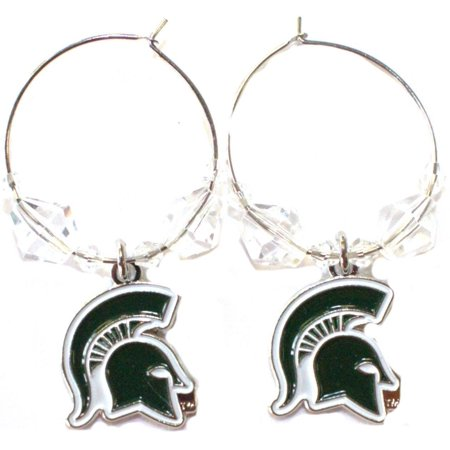 NCAA Officially Licensed Michigan State Spartans Beaded Hoop - Spartan Jewelry