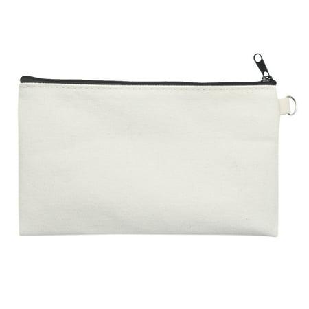 Aspire 30 Pack Natural Cotton Canvas Makeup Bags With Black Zipper