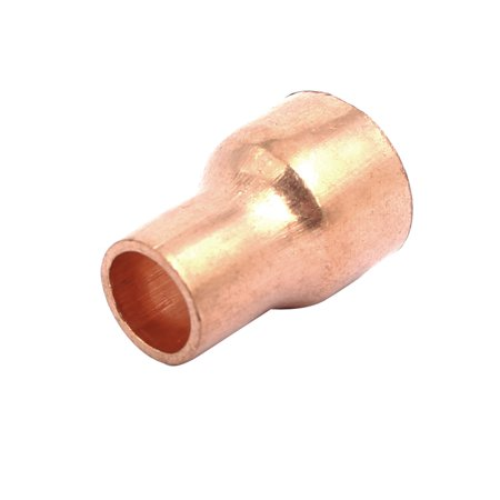 12.7mmx8mm Tube Air Conditioner Copper Reducer Straight Fitting - image 2 de 3