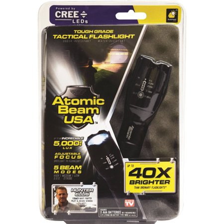 atomic beam new 5000 lux led 18650 aaa flashlight zoomable torch as seen on t. Black Bedroom Furniture Sets. Home Design Ideas