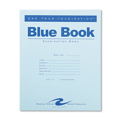 Roaring Spring  Examination Blue Book