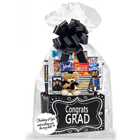 Graduation Thinking Of You Cookies, Candy & More Care Package Snack Gift Box Bundle Set