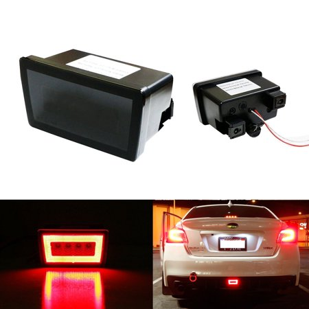 iJDMTOY Smoked Lens 3-In-1 LED Rear Fog Light Assembly Kit (Tail, Brake, Backup Reverse Light) For 2011-up Subaru Impreza WRX STI (with Wire Harness & Mounting Bracket)