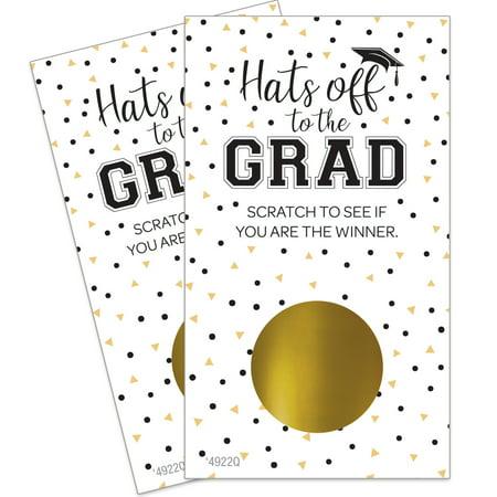 Graduation Scratch Off Game | 28 Cards | 3 Winners Per (Custom Scratch Game)