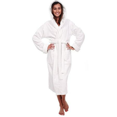 8d2fab3b9c Spa   Resort - Heavy Womens 3.5lb White Hooded Terry Cloth Bathrobe. Full  Length 100% Turkish Cotton - Walmart.com