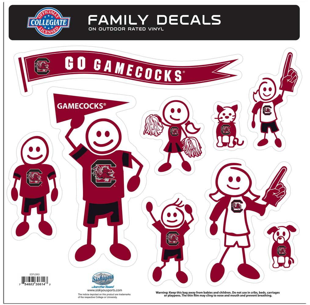 South Carolina Large Family Decal Set (F)