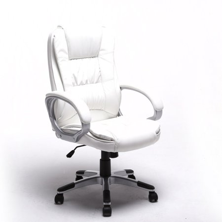 Fabulous Aleko Ergonomic Executive Office Chair Alc2216Wh White Color Gmtry Best Dining Table And Chair Ideas Images Gmtryco