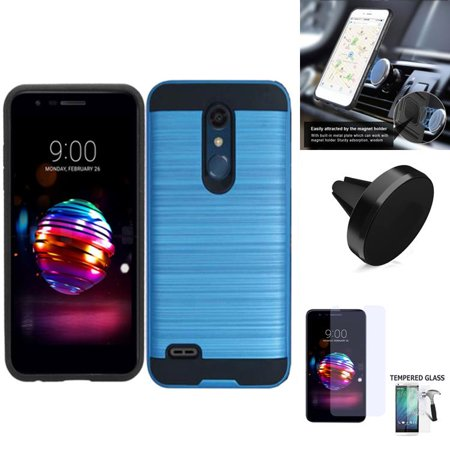 new arrival 5dd5c 5ee8e For AT&T PREPAID LG Xpression Plus Case, Straight Talk LG Premier Pro  Prepaid, Harmony 2 Case ; Phoenix Plus Case Dual-Layered Cover (Slim Blue/  ...