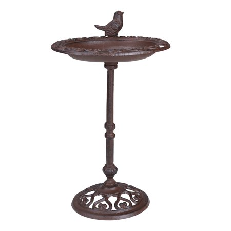 Mainstays Lynden Cast Iron Pedestal Bird Bath