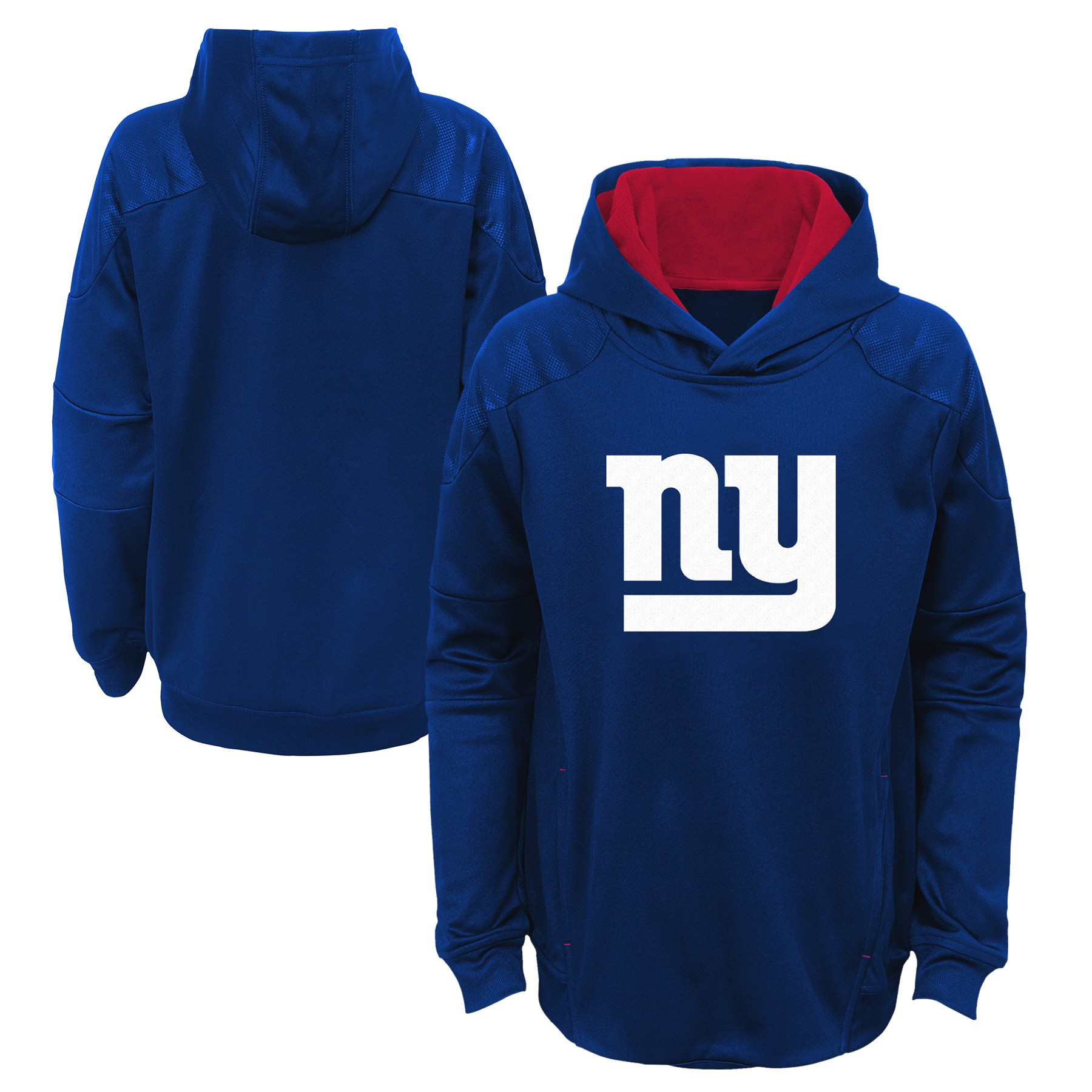 "New York Giants Youth NFL ""Mach"" Pullover Hooded Performance Sweatshirt"