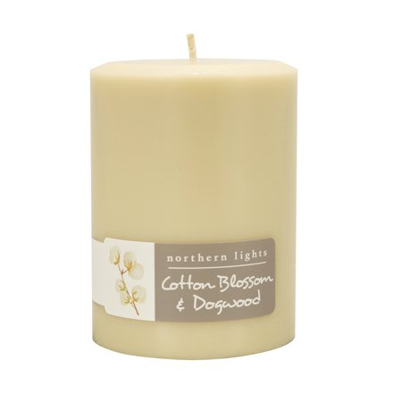 Northern Lights Fragrance Palette Pillar, Cotton Blossom and Dogwood 3 Northern Lights Candles Pillar