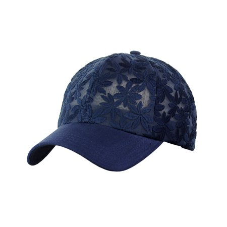 C.C - C.C Women s Floral Lace Panel Vented Adjustable Precurved Baseball  Cap Hat 2229fc663de