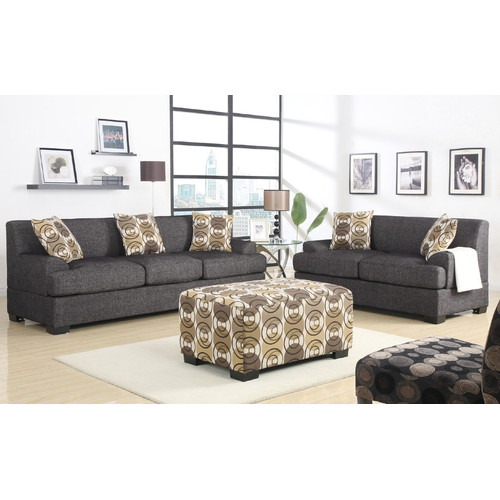 A&J Homes Studio Arroyo Loveseat and Sofa Set with Ottoman by