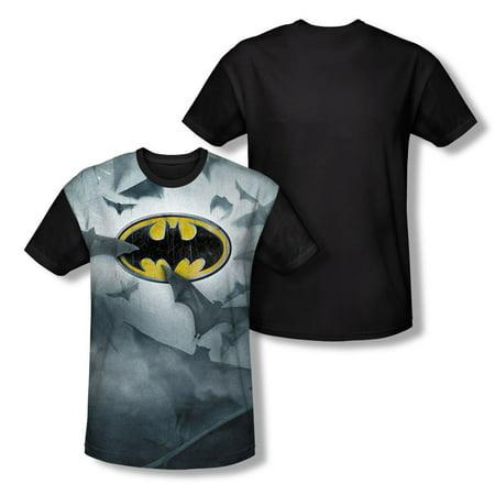 Batman Men's  Bat's Logo Sublimation T-shirt - Female Batman Shirts