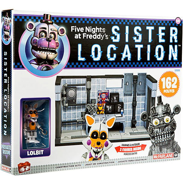 Mcfarlane Five Nights At Freddy S Private Room Construction Set Lolbit Jumpscare Funtime Freddy Walmart Com Walmart Com