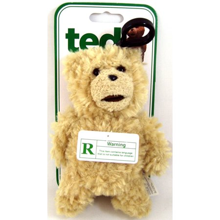 Ted Movie 6 Inch Plush Figure Back-Pack Clip - Talking Ted (Clean Version) - image 1 de 1