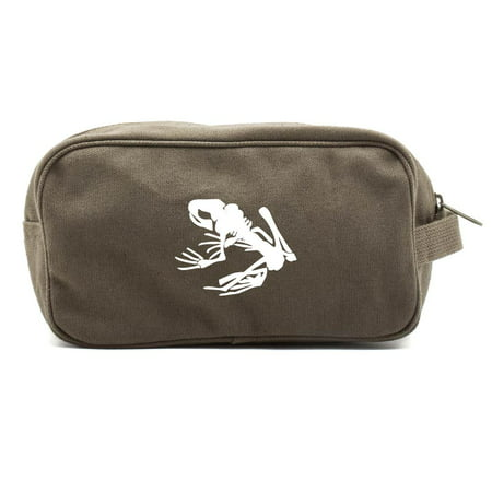Navy Seal Team DEVGRU Frog Skeleton Canvas Shower Kit Travel Toiletry Bag Case