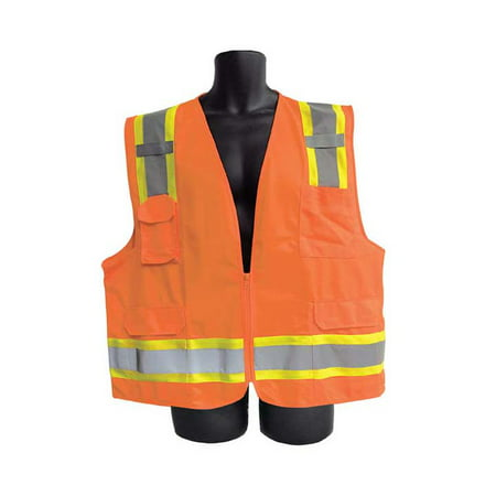 Class II Orange Vest with Pockets Lot of 3 Pack s of 1 Unit
