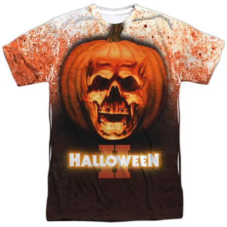 Halloween II 1981 Horror Thriller Slasher Movie Poster Adult Front Print T-Shirt - Halloween 2 1981 Theme