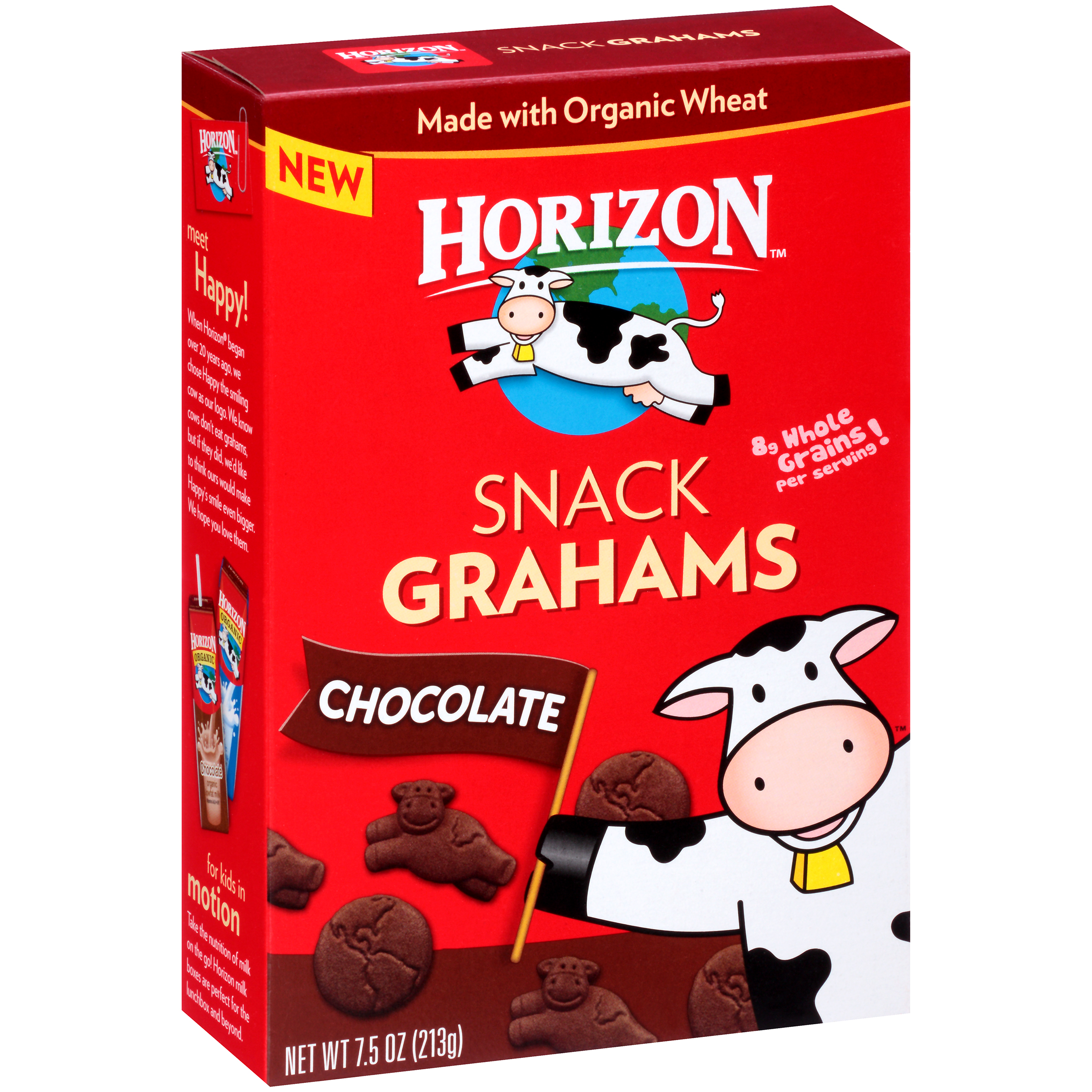 Horizon Chocolate Snack Grahams, 7.5 Oz (Pack of 12)