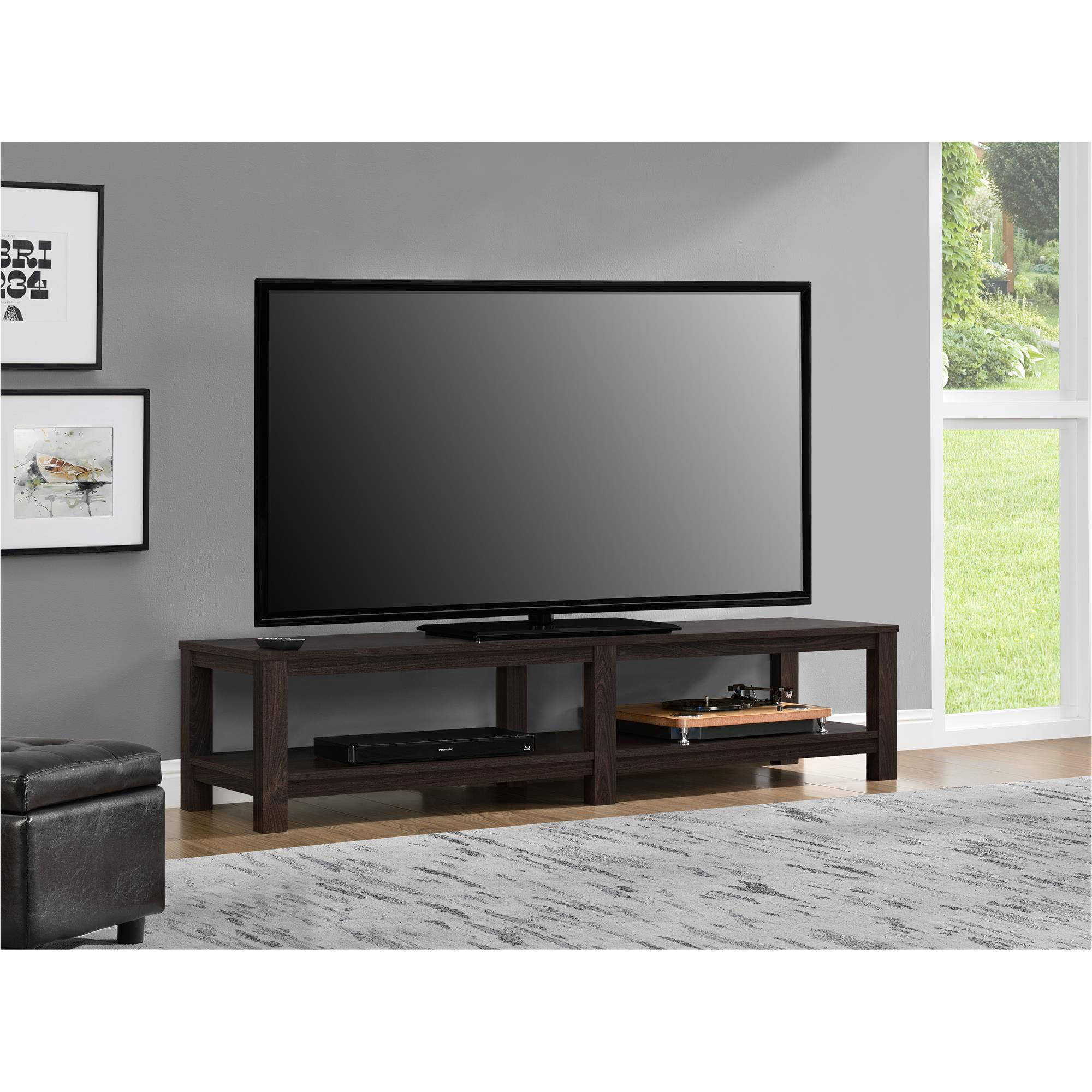 """Mainstays Parsons TV Stand for TVs up to 65"""", Multiple Colors"""