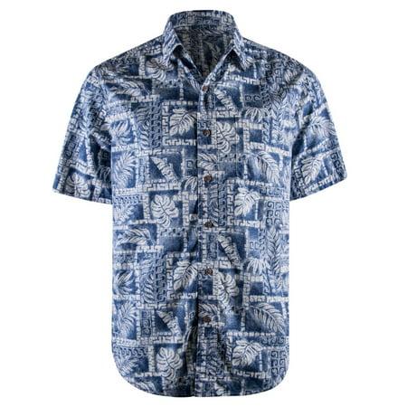 f5a72a51556c Campia Moda - Campia Men's Cotton Print Shirt (Blue 17, XXL) - Walmart.com