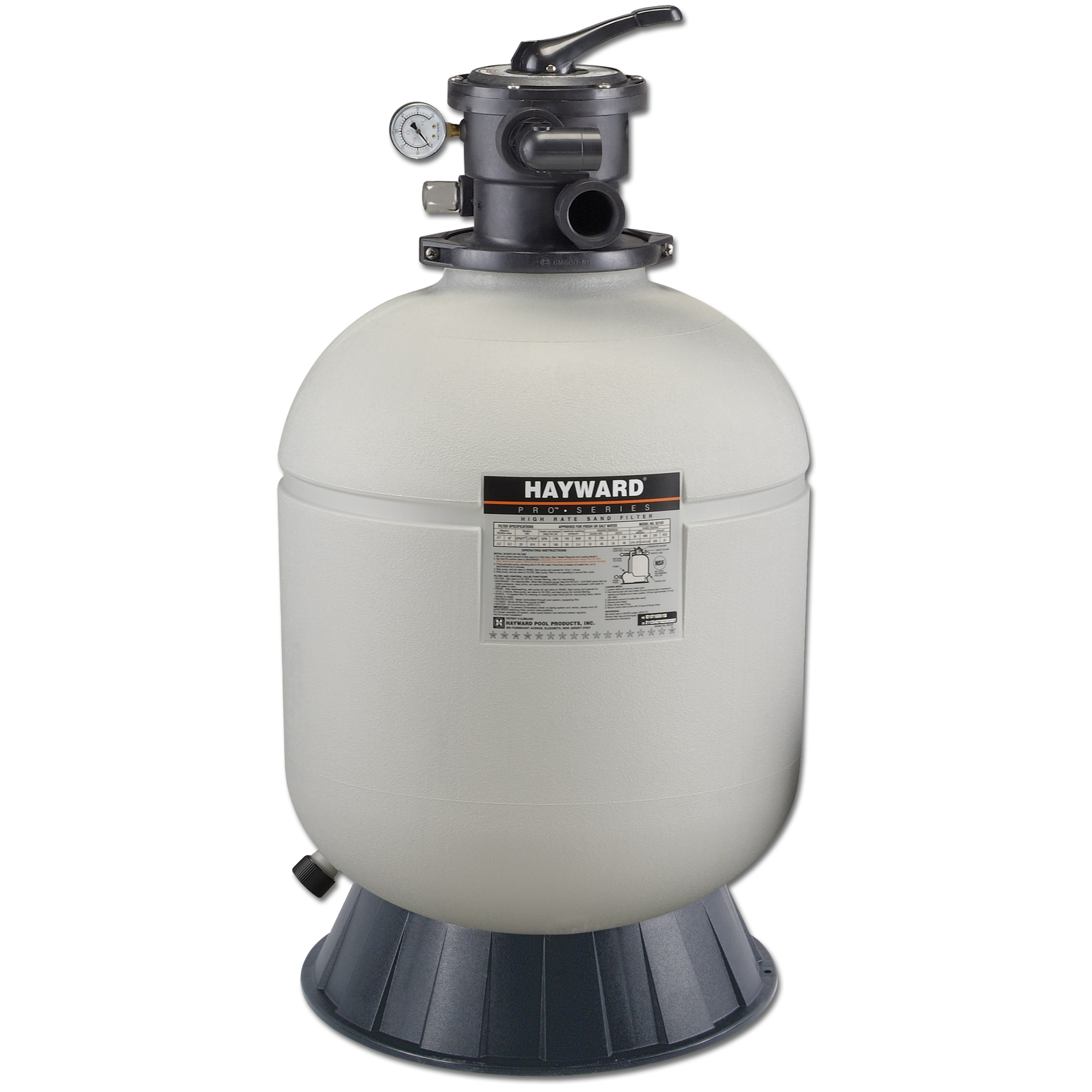 pool sand filter hayward pro series 16 inch above ground pool sand filter 10732