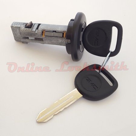 New Ignition Switch Cylinder Lock For GMC Truck SUV with 2 GMC Logo Keys 706797