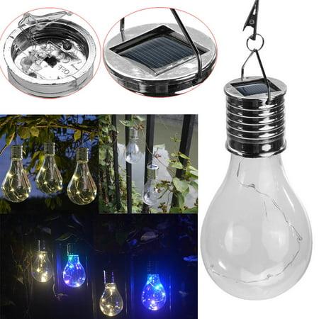 BEAD BEE Waterproof Solar Rotatable Outdoor Garden Camping Hanging LED Light Lamp Bulb (Hanging Light Bulbs)