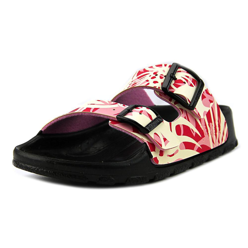 Birki's Haiti Women  Open Toe Synthetic Pink Slides Sandal