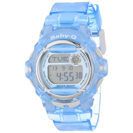 BG169R-2 Women's Baby-G Blue Whale Digital Alarm Watch